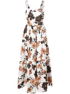 Nicholas длинное платье с цветочным принтом