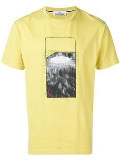 Stone Island футболка с графическим принтом