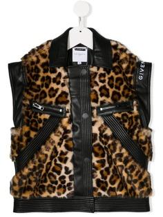 Givenchy Kids куртка из искусственного меха с леопардовым принтом