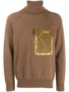 Just Cavalli свитер с нагрудным карманом и высоким воротником