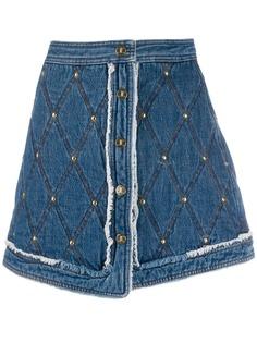 Just Cavalli короткая юбка с декоративной строчкой