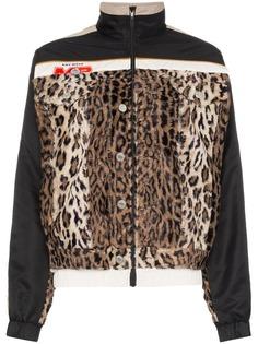 Martine Rose спортивная куртка с леопардовым принтом