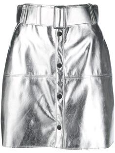 MSGM мини-юбка с эффектом металлик