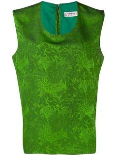 Yves Saint Laurent Pre-Owned блузка без рукавов с принтом