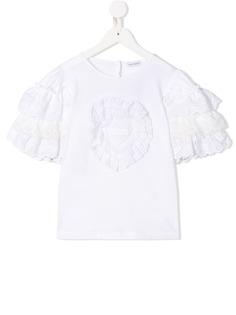 Dolce & Gabbana Kids футболка с оборками на рукавах