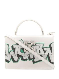 Off-White сумка Jitney с принтом граффити