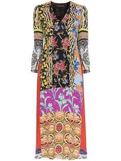 Etro платье миди с принтом в технике пэчворк