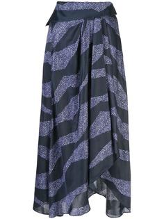 Isabel Marant юбка асимметричного кроя с принтом