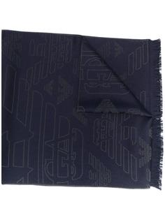 Emporio Armani шарф с вышитым логотипом