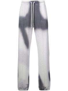 Off-White спортивные брюки с эффектом тай-дай