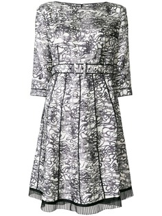 Marc Jacobs плиссированное платье с абстрактным принтом