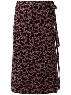Comme Des Garçons Pre-Owned бархатная юбка с цветочным узором