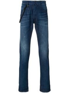 Emporio Armani джинсы кроя слим с подворотами
