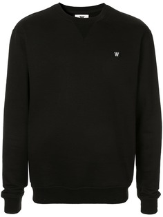 Wood Wood вязаный свитер с логотипом