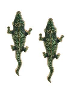 Natia X Lako серьги Natia x Lako в форме крокодилов