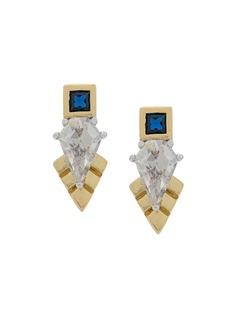 V Jewellery серьги-гвоздики Thea с кристаллами