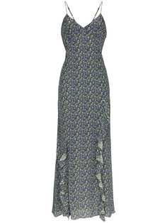 Les Reveries платье макси на бретелях с цветочным принтом