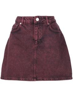 GANNI короткая джинсовая юбка