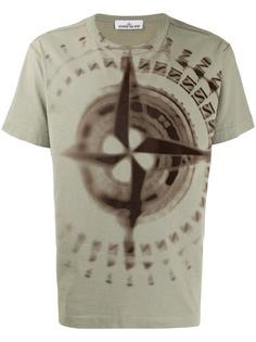 Stone Island футболка с принтом