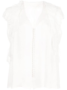 Jason Wu Collection блузка на пуговицах с оборками