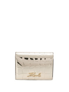 Karl Lagerfeld маленький кошелек K/Signature Croco