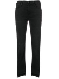 FRAME прямые джинсы с бахромой