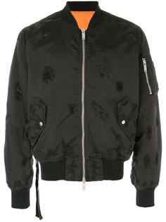 UNRAVEL PROJECT куртка-бомбер с рваными деталями