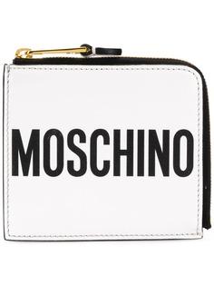 Moschino кошелек на молнии с логотипом