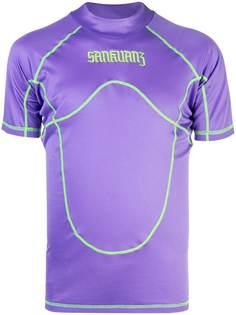 Sankuanz футболка с контрастной отделкой