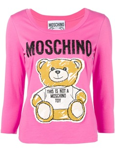 Moschino футболка с нашивкой Teddy Bear