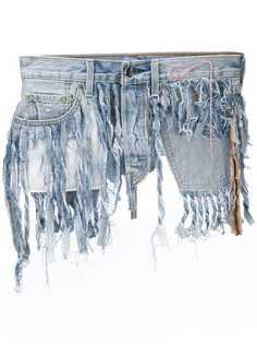Neith Nyer джинсовый пояс с бахромой