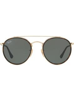 Ray-Ban круглые солнцезащитные очки с двойным мостом