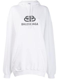 Balenciaga худи с логотипом BB