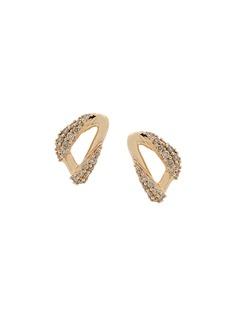 Astley Clarke золотые серьги-гвоздики Vela с бриллиантами