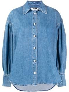 MSGM джинсовая рубашка