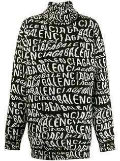 Balenciaga свитер с высоким воротником и длинными рукавами