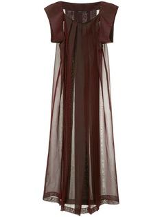 Yohji Yamamoto Pre-Owned плиссированное платье макси