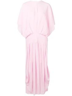 """JW Anderson платье макси с рукавами """"летучая мышь"""" и эффектом помятости"""