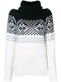 Monse свитер с открытыми плечами и узором в виде снежинок