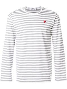 Comme Des Garçons Play футболка в полоску с логотипом