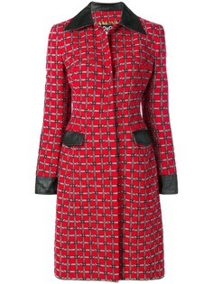 Dolce & Gabbana Pre-Owned пальто с принтом и ремнем на пряжке