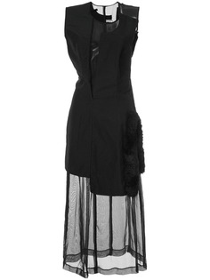 Comme Des Garçons Pre-Owned асимметричное платье с деталью из искусственного меха