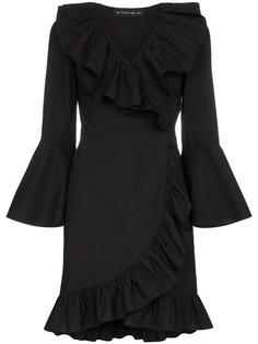 Etro платье с запахом и оборочной отделкой