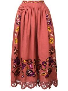 Ulla Johnson юбка с отделкой из цветочного кружева