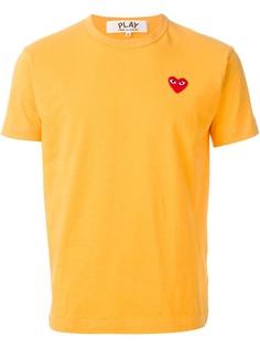 Comme Des Garçons Play футболка с аппликацией логотипа