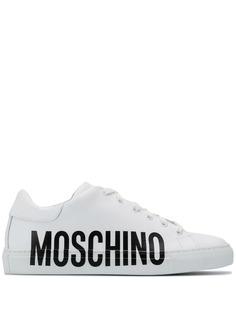Moschino кроссовки с логотипом