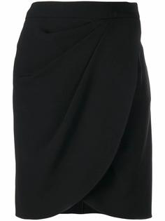Emporio Armani юбка мини с запахом