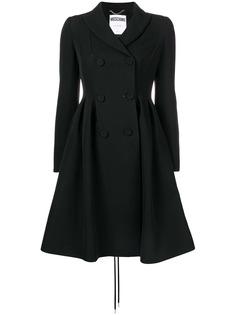 Moschino двубортное расклешенное пальто
