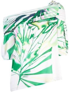 Josie Natori блузка с открытыми плечами Botanical Palms