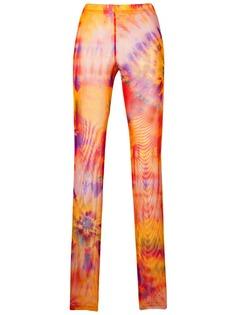 MSGM брюки кроя слим с принтом